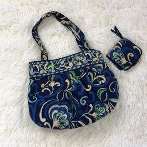 Vera Bradley MOD Blue & green satchel bag & wallet